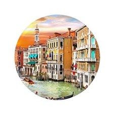 "Venice Photo 3.5"" Button"