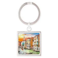 Venice Photo Square Keychain