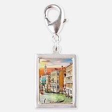 Venice Photo Silver Portrait Charm