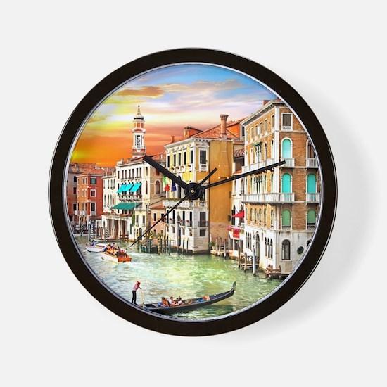 Venice Photo Wall Clock