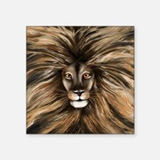 "shower_curtain-Big Cat Square Sticker 3"" x 3"""
