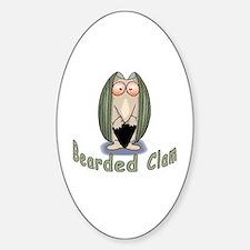 Bearded Clam Oval Decal