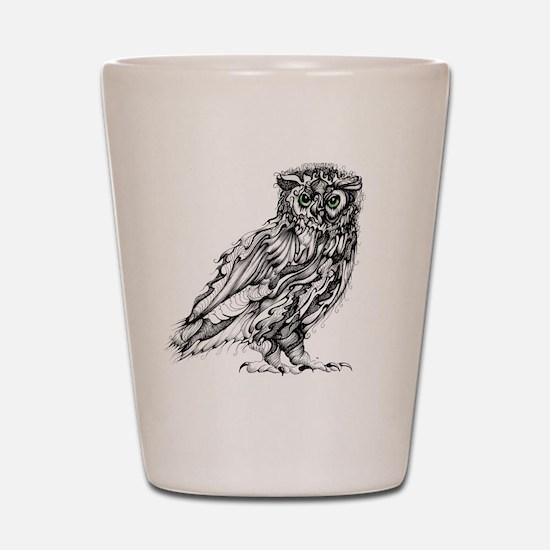 Beautiful Owl Shot Glass