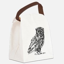 Beautiful Owl Canvas Lunch Bag