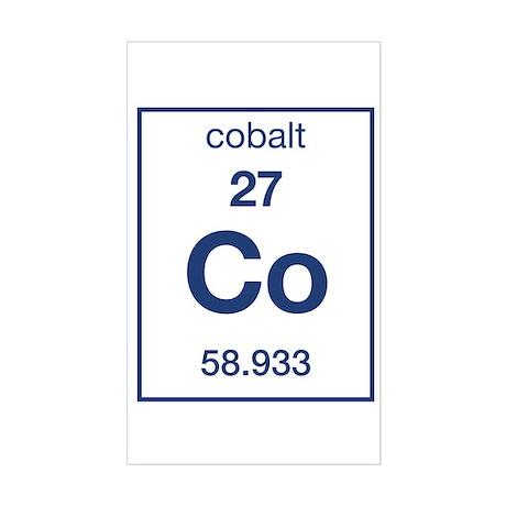 Cobalt Rectangle Sticker