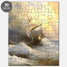 Vintage Sailboat Painting Puzzle