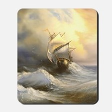 Vintage Sailboat Painting Mousepad