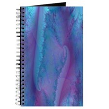 fancy blue and purple curtain Journal