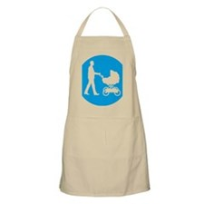 father with a baby in a buggy Apron