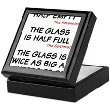The glass is too big Keepsake Box