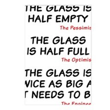 The glass is too big Postcards (Package of 8)