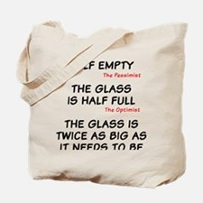 The glass is too big Tote Bag