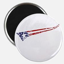 Vintage MERICA US Flag Style Swoosh Magnet