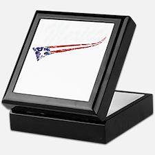 Vintage MERICA US Flag Style Swoosh Keepsake Box