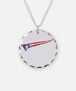 Vintage MERICA US Flag Style Necklace
