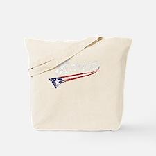 Vintage MERICA US Flag Style Swoosh Tote Bag