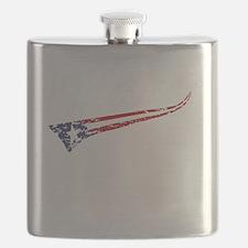 Vintage MERICA US Flag Style Swoosh Flask