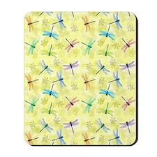 dragonflies curtain Mousepad