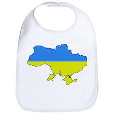 Flag Of Ukraine Map Outline Bib