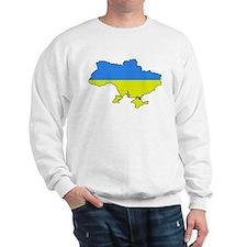 Flag Of Ukraine Map Outline Sweatshirt