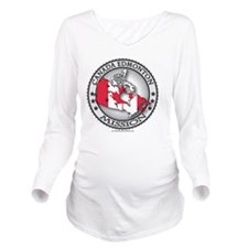 Canada Edmonton LDS  Long Sleeve Maternity T-Shirt