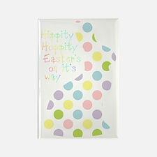 Hippity Hoppity Easter bunny Rectangle Magnet