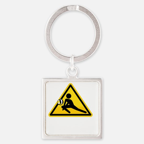 Call Before You Dig Square Keychain