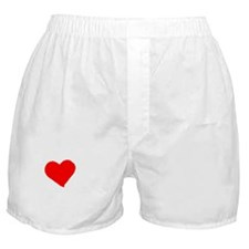 I heart Cow white Boxer Shorts