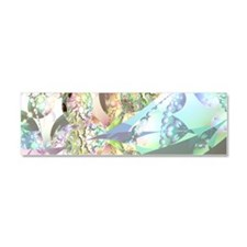 Abstract Fractal Wings of Angels Car Magnet 10 x 3
