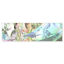 Abstract Fractal Wings of Angels Bumper Sticker