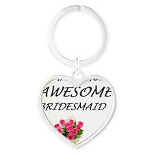 Amazingly Awesome Bridesmaid Heart Keychain