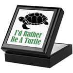 Rather Be A Turtle Keepsake Box