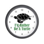 Rather Be A Turtle Wall Clock (w/numbers)