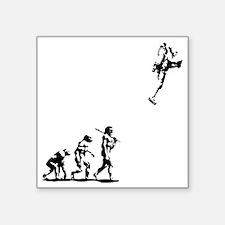 """evolution-rocket-LTT Square Sticker 3"""" x 3"""""""