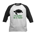 Rather Be A Turtle Kids Baseball Jersey