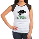 Rather Be A Turtle Women's Cap Sleeve T-Shirt