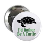 Rather Be A Turtle Button