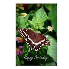 Butterfly Birthday Card I Postcards (Package of 8)