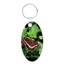 Butterfly Birthday Card II Keychains