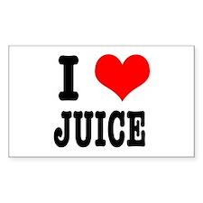 I Heart (Love) Juice Rectangle Decal