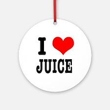 I Heart (Love) Juice Ornament (Round)