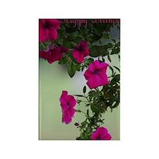 Pretty Petunias Birthday Card Rectangle Magnet