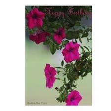 Pretty Petunias Birthday  Postcards (Package of 8)