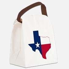 Texas Flag Map Canvas Lunch Bag