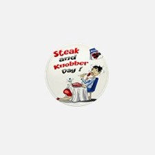 Steak and Knobber Day Logo Mini Button
