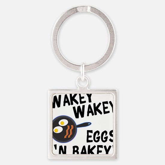 Bacon And Eggs Square Keychain