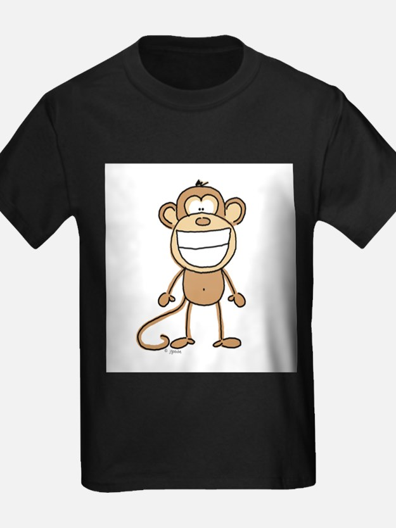 Big Monkey Grin Ash Grey T-Shirt