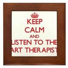 Keep Calm and Listen to the Art Therapist Framed T