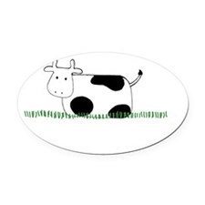 Ground Beef Oval Car Magnet