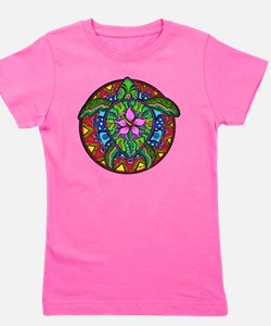 Sea Turtle Painting Girl's Tee